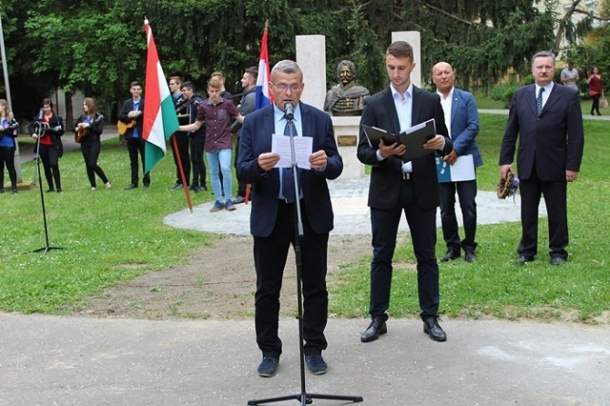 Fehérvári Tamás Dombóváron méltatta Franjo Vlasic-ot és hagyatékát, a bán 251. esztendős emlékünnepségén