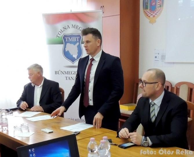A bűnmegelőzési tanács szakembereit köszöntötte dr. Gábor Ferenc megyei főjegyző