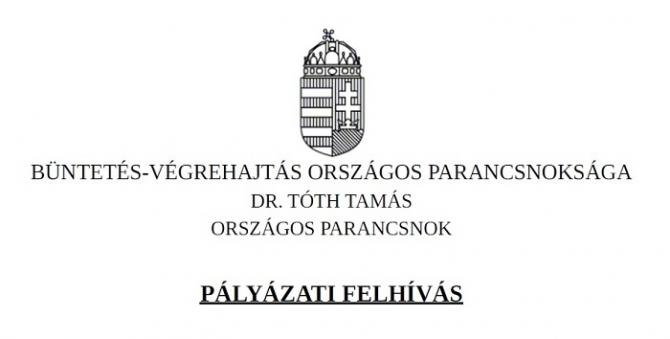 Pályázatot hirdet a büntetés-végrehajtás országos parancsnoka roma fiataloknak